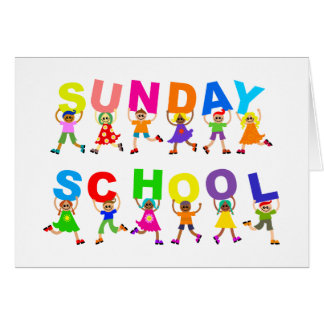 Escuela dominical tarjeta de felicitación