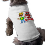 Escuela fresca 2 4 camiseta de perro