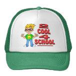 Escuela fresca 2 4 gorras de camionero