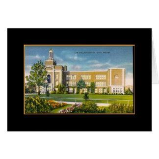 Escuela Gary de Lew Wallace EN (vintage) Tarjeta De Felicitación
