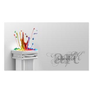 Escuela gris simple del arte - tarjeta de profesor plantillas de tarjetas de visita