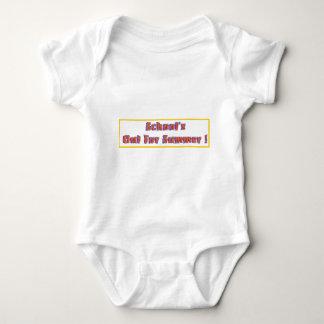 Escuela hacia fuera para el verano body para bebé