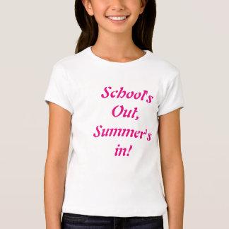 Escuela hacia fuera, verano en camiseta de los