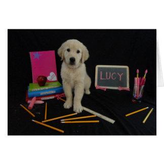 Escuela Lucy Tarjeta De Felicitación