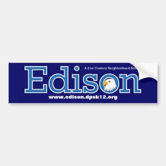 Escuela primaria Bumpersticker de Edison Pegatina Para Auto
