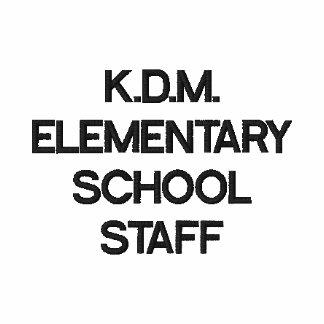 Escuela primaria del personal K D M de la escuela Camiseta Polo Bordada