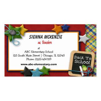 Escuela primaria del profesor tarjetas de visita