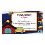 Escuela primaria del profesor plantilla de tarjeta personal