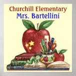 Escuela/profesor/poster de la sala de clase - SRF