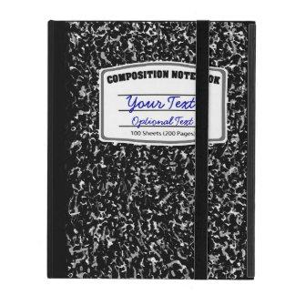 Escuela retra Dayz del cuaderno de la composición iPad Protector