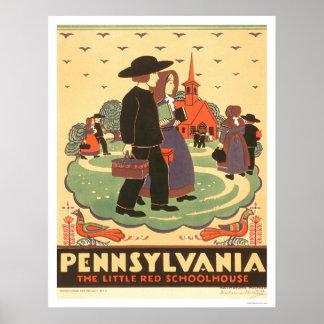 Escuela roja Amish WPA 1938 Impresiones