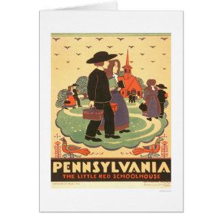 Escuela roja Amish WPA 1938 Felicitacion