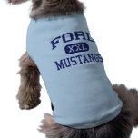 Escuela secundaria Allen Tejas de Ford de los must Camiseta De Perrito