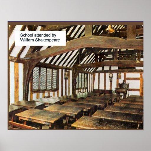 Escuela secundaria asistida por Shakespeare Póster