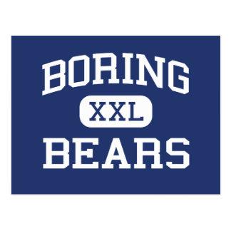 Escuela secundaria de los osos que agujerea que ag tarjetas postales