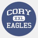 Escuela secundaria Gadsden Alabama de Cory Eagles Pegatina Redonda
