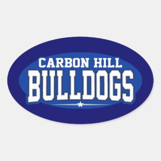 Escuela secundaria Hills del carbono; Dogos Calcomania De Óval Personalizadas