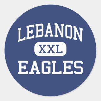 Escuela secundaria Líbano Oregon de Líbano Eagles Pegatina Redonda