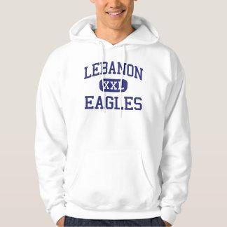 Escuela secundaria Líbano Oregon de Líbano Eagles Sudadera Encapuchada