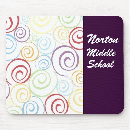 Escuela secundaria Mousepad de Norton Alfombrilla De Ratón