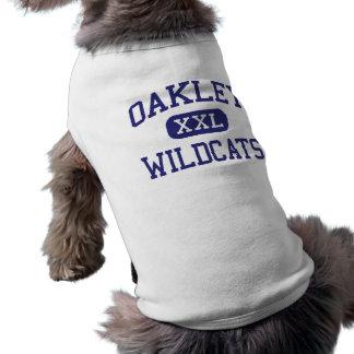 Escuela secundaria Oakley Kansas de los gatos mont Playera Sin Mangas Para Perro