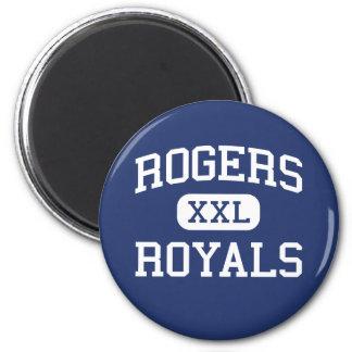 Escuela secundaria Rogers Minnesota de los Royals  Imán Redondo 5 Cm