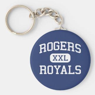 Escuela secundaria Rogers Minnesota de los Royals  Llavero Redondo Tipo Pin
