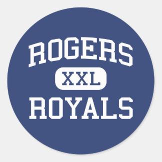 Escuela secundaria Rogers Minnesota de los Royals Pegatina Redonda