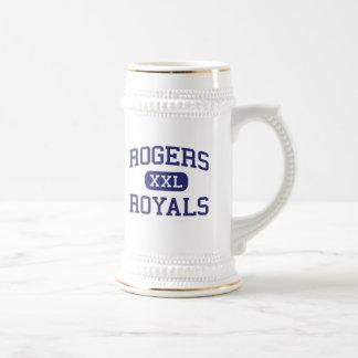 Escuela secundaria Rogers Minnesota de los Royals  Jarra De Cerveza