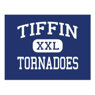 Escuela secundaria Tiffin Ohio de los tornados de Postal