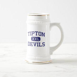 Escuela secundaria Tipton Indiana de los diablos Jarra De Cerveza