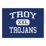 Escuela secundaria Troy Kansas de Troy de los Troj Tarjetón