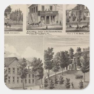 Escuela, seminario, residencias, Minnesota Calcomanía Cuadradas Personalizada