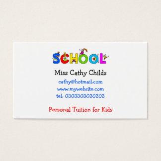 Escuela, Srta. Cathy Childs, Tarjetas De Visita
