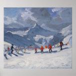 Escuela Tignes 2009 del esquí Póster