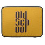Escuela vieja amarilla fundas macbook pro