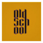 Escuela vieja amarilla impresiones
