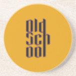 Escuela vieja amarilla posavasos diseño