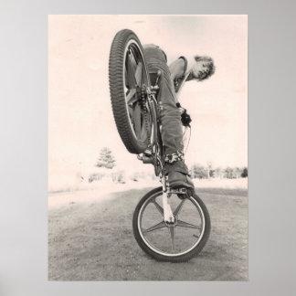 Escuela vieja BMX del vintage Póster