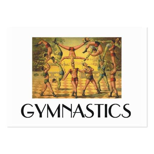 Escuela vieja de la gimnasia SUPERIOR Tarjetas De Visita Grandes