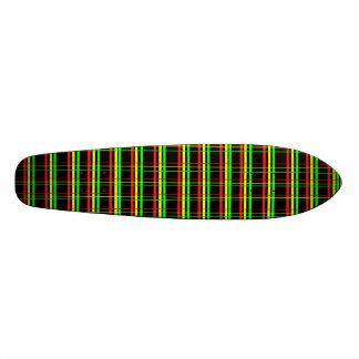 Escuela vieja de Rasta de la tela escocesa Monopatin Personalizado