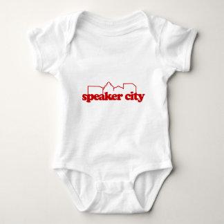 Escuela vieja de Speaker City Body Para Bebé