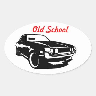 Escuela vieja de Toyota Celica Pegatinas Óval Personalizadas