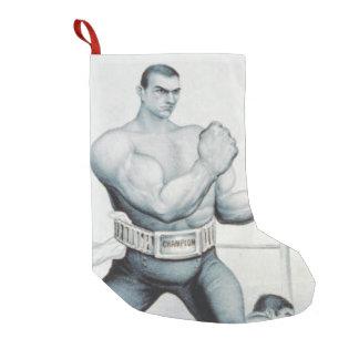 Escuela vieja del boxeo SUPERIOR Bota Navideña Pequeña