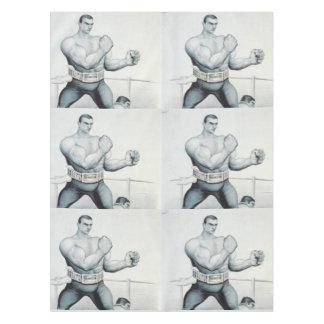Escuela vieja del boxeo SUPERIOR Mantel De Tela