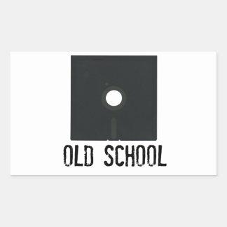 Escuela vieja del disco blando rectangular pegatinas