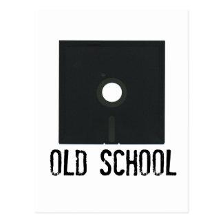 Escuela vieja del disco blando postales