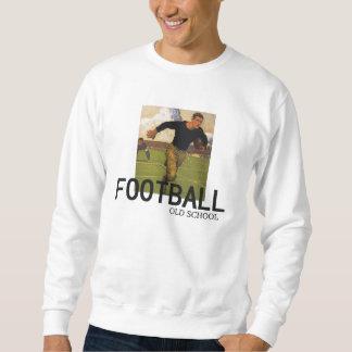 Escuela vieja del fútbol sudadera con capucha