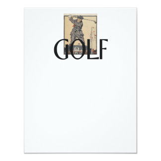 """Escuela vieja del golf SUPERIOR Invitación 4.25"""" X 5.5"""""""