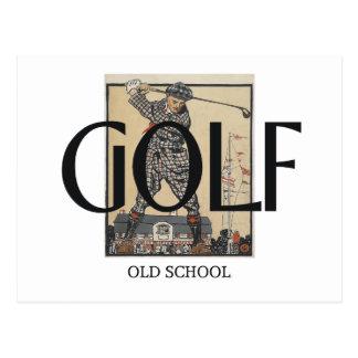 Escuela vieja del golf SUPERIOR Postal